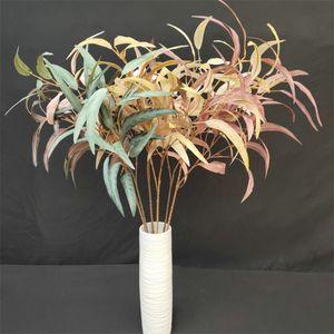 """Sahte Uzun Söğüt Leaf Kök (6 kaynaklanıyor / adet) 33,46"""" Uzunluk Simülasyon Greenery Phoenix Willows Wedding için Ev Dekoratif Yapay Ağaçlar"""