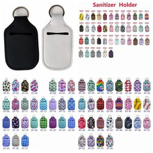 Sanitizer Holder Neoprene Hand Sanitizer Bottle Holder Lipstick Holders Lip Cover Handbag Keychain Printing Chapstick Holder 30ml GWF849