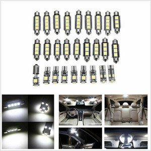 27 Pcs Set White Car Interior LED Light Kit Play And Plug Easy To Install Save Power Supply Left Right Front Rear