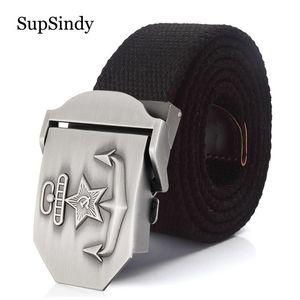 Supsindy Men&women Canvas 3d Soviet Navy Ussr Cccp Metal Buckle Jeans Belt Soldiers Military Army Tactical Belts Male Strap