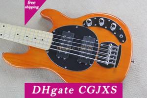 Orange Man Música Ernie Ball Sting Ray 5 Cordas guitarra baixa bateria de 9V Ativo captador de guitarra elétrica de bordo Fingerboard