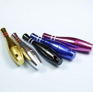 bottiglia di 76 millimetri Bowling tubo di metallo mini pallottola stile tubi filtranti Metel pipe di tabacco da pipa bocchino Sharpstone da GGA3696 mare