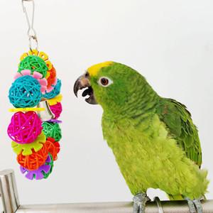 Papağan Kuş Oyuncak Parakeet Rattan Topu Kolay Chew Bite Egzersiz yükleyin Malzemeleri