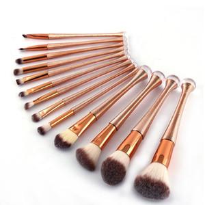 En stock! 13pcs de maquillage professionnel brosse maquillage or rose brosse Waistline outil de beauté Kit cosmétiques Brosses