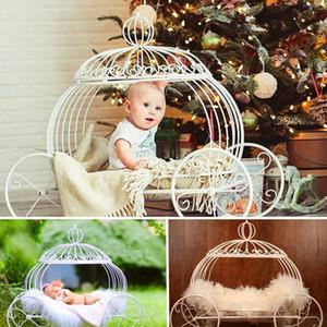 Fotografía de bebé recién nacido Puntales accesorios de hierro carro de la calabaza Studio apoyos de la fotografía de la foto del bebé que presenta brotes Sofá cama