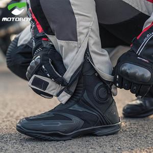 chaussures d'équitation de moto Motoboy contre la chute, glissement, anti-dérapant, chaussures imperméables, des bottes d'équitation de course moto Voyage