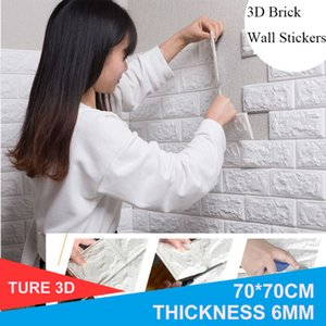 70*77 3D Wall Sticker Self Adhesive Wallpaper DIY Brick Living RoomTV Kids Safty BedroomWarm Home waterproof Decor Wall Stickers