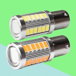 2PCS عالية الجودة 1156 P21W BA15S 33 SMD 5630 5730 LED السيارات مصباح ضوء الفرامل الخلفي الضباب السيارات DRL ضوء عكسي لمبة بدوره اشارات 2X