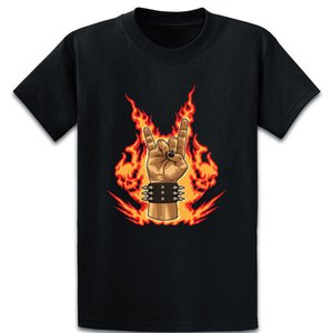 Şeytan Kornalar İşaret Ağır Metal Festivali Hareketle Tişörtlü Comical Sunlight Baskılı Aile S-5XL Giyim Kısa Gömlek