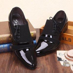 2021 Glänzende Bräutigam Schuhe England Stil Weiche Leder Mens Business Schuhe Formale Hochzeit Party Herren Freizeitschuhe Al6977
