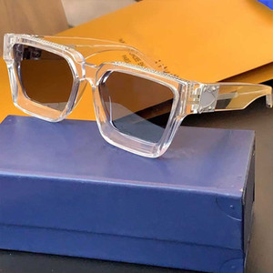 2020 Últimas Últimas gafas claras 1165W Millionaire Gafas Fashion Sunglasses Square Marco Top Calidad Retro Retro Gafas con caja