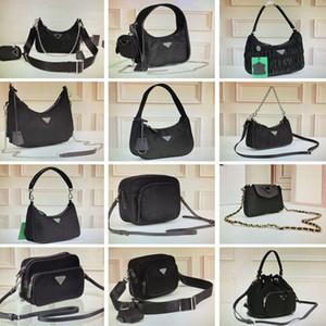 hobo nylon plisado vendimia cruzada cuerpo de la bolsa de tacto carteras de camuflaje mini-bolsos bolso de hombro bolsas de cámara de la cadena del totalizador de la carpeta del clave