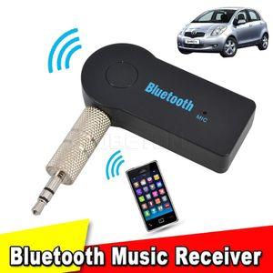Cgjxsuniversal kit vivavoce per auto Bluetooth Receiver 3 0,5 millimetri streaming audio stereo di musica mano altoparlante cuffie libero per