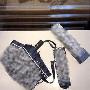 Pieno lettera stampata unisex Ombrelli Moda automatico progettista Uomini Donne Ombrellone Coppie esterne portatile Trendy Ombrelli