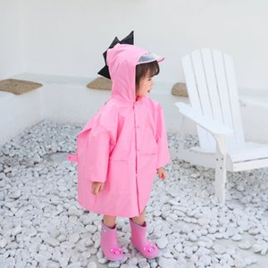 V8NkS Figlioli dinosauro con zainetto Raincoat Ragazza Ragazzo scuola materna mantello bambino sveglio poncho studente Cloak Bag cartone animato