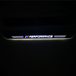 Para BMW X1 E84 F48 2009-2020 impermeable acrílico Movimiento LED pedal agradable de coches placa del desgaste del travesaño de la puerta del pedal Camino Luz