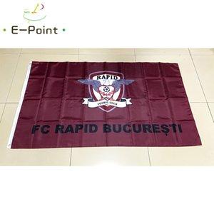 Bandeira da Roménia FC Rapid Bucuresti 3 * 5 pés (90 centímetros * 150 centímetros) de poliéster bandeira bandeira decoração voando bandeira horta presentes festivos