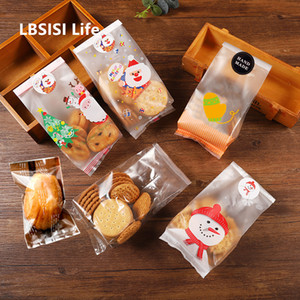 Wedding Candy Cookie Gift Bag Self Stand Holder Cupcake Biscuit Hand Made DIY Christmas Plastic Packaging Bags