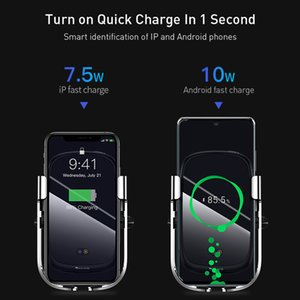 FreeShipping 15W Wireless Car Charger Qi Wireless Charger in Car Air Vent Mount Holder Infrared Sensor Wireless Charging Phone Holder
