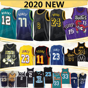 23 maillot de basket-ball James Black Mamba NCAA 77 Doncic Ja 12 Morant Vince Carter 15 23 MJ 2 Gianna 23 Lebron Basketball Jersey