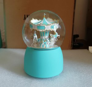 NEW VIP Gift ! Carousel Snow Globe 2019 Luxury Decorate Crystal Ball for Christmas & Novelty Birthday Gift