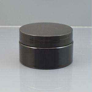 30G 50G 100G الأسود حاوية مستحضرات التجميل كريم البلاستيك جرة، إفراغ البلاستيك كريم إعادة استخدام الحاويات مع الأغطية للطباعة T200819 مخصص