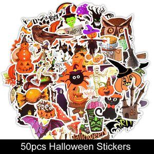 Notebook Bagaj Araba Bilgisayar B173F için 50pcs Cadılar Bayramı Çıkartma Çocuklar Hediye Yaratıcı Karikatür Çıkartması Kabak Fener PVC Sticker