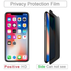 Privacy Tempered Glass For iPhone 12 11 X XS XR 8 Plus Anti-Spy Screen Protector 9H Hardness Tempered Glass For Samsung A50 Prime In Box