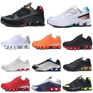 Nike Shox R4 tl erkek koşu ayakkabıları Üçlü Siyah beyaz Siyah Gri Kil Turuncu Sunrise Hız Kırmızı erkek eğitmenler açık hava spor ayakkabılar womens