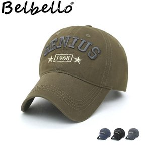 Belbello Spring Summer New Style Men's Baseball Cap Three-dimensional Embroidery Fashionable Sun Hat Wash Old Cotton Hat Y19052004