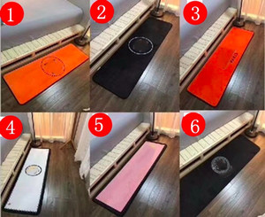 nueva zona de alfombra negro blanco alfombra del piso de franela para el dormitorio cocina alfombra larga planta funcional