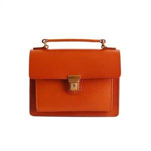 Vintage Designer cucito a mano in cuoio genuino femminile Satchels borsa della signora piccola borsa Messenger Bag Authentic Cowskin Donne