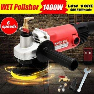 800W / 1400W 220V humide électrique Polisseuse Grinder Pads Kit Engineered Marble Béton vitesse réglable Grinder Power Tool polonais cbMJ #