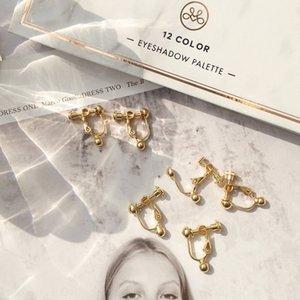 pendientes de bricolaje pendientes Converter pendiente accesorios de bricolaje de bienestar estrella agujero convertidor de oro pendiente de modificación Earclip sin orejas