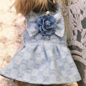 Pet Lovely Dog Charme Robes Laisses High Street personnalité Animaux Set Gilet motif Respirant été Schnauzer vêtements Ensembles