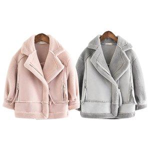 New Girls Manteaux et vestes en daim Polaires Enfants Manteaux Mode 4-10 Old Taille Automne Hiver 9GT018
