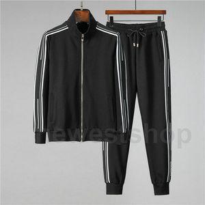 abbigliamento di lusso stilista dare mens tuta outwear felpa tuta sportwear ricami patchwork giacca pantaloni lettera a righe