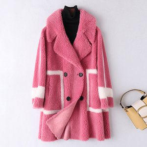 The new winter 2020 bump color fur long lambs wool in one large particles sheared sheep fur coat coat