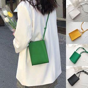 Fashion Mini Bag Long Strap Shoulder Bags Women Messenger Bag Solid Color Clutch Handbags Crossbody Lady Sling Phone Bags