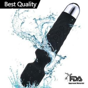 qualityStrong вибрация AV Wand USB зарядка Вибратор силиконовый водонепроницаемый фаллоимитатор вибраторы женской мастурбации взрослых секс игрушки для женщин