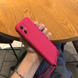5134-69 حالة سيليكون دائم ل iphone11pro ماكس مع الشريط الغطاء الخلفي الواقي