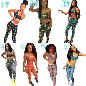 Les femmes Ethika Survêtement Impression personnalisée camouflage Soutien-gorge Pantalons deux pièces Tenues d'été Leisure Suit différents styles de plate-forme Hot