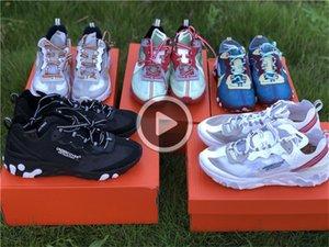 Release Schuhe UNDERCOVER X Reagieren Element 87 Mann und Frauen Turnschuhe laufen authentische Qualität Sport-Schuh mit Kasten BETA