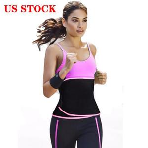 US Stcok!Ship Waist trainer Slimming Belt waist shaper Tummy Control sweet sweat Belt modeling strap body shaper Women sports fitness belt