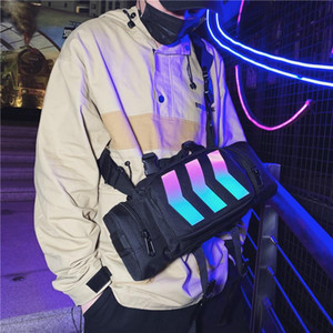 2019 New Street Trend Hip Hop Car Reflective Night Ming Couple Chest Bag Personality Cool Shoulder Messenger Bag