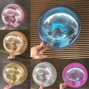 Прозрачный блеск Воздушные шары свадебные украшения Круглый ПВХ Гелий С Рождеством DIY шары День рождения Baby Shower для вечеринок