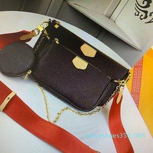 Miglior spalla di qualità del sacchetto delle donne di borse classiche multifunzione donna borse portafogli tre pezzi con box model M44823 M44840 K06