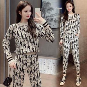 겨울 새로운 트렌드 스웨터 + 바지 패션 여성 의류 2 종 세트 여성 의류 2 종 세트 겨울 후드 무료 배송