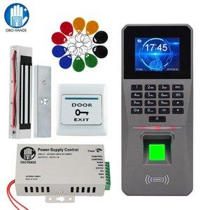 نظام التحكم بصمة باب الوصول الهوية RFID TCP / IP USB مع البرنامج كلمة لوحة المفاتيح + التيار الكهربائي + كهرباء أقفال