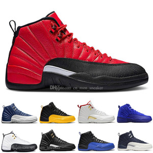 New 12 Stone Blue University Gold Reverse Flu Game Dark Concord WNTR Basketball Shoes 12s GAME BALL HOT PUNCH Men Sports Sneakers Trainers